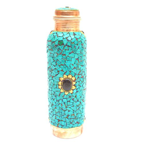COPPER BOTTLE NEPALI STONE WORK