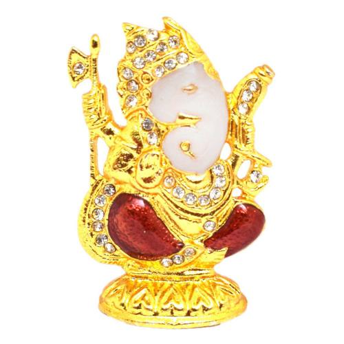 CRYSTAL IDOLS GANESHA SITTING SIDE FACE ID-82