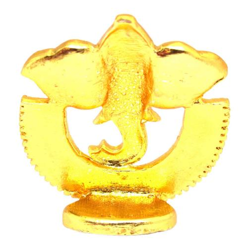 CRYSTAL IDOLS GANESHA IN HALF RING ID-044