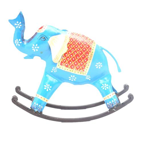 DECORATIVE HANDICRAFTS PAINTED ROCKING ELEPHANT
