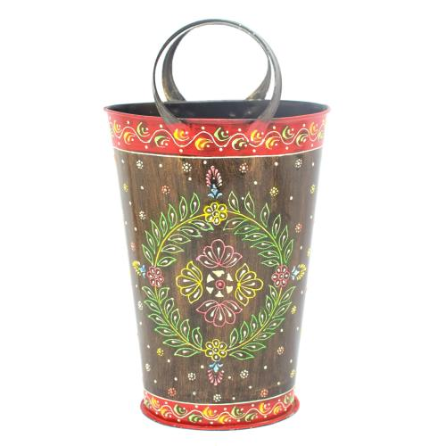 DECORATIVE HANDICRAFTS PAINTED BALTI BASKET