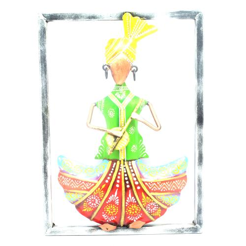 DECORATIVE HANDICRAFTS PAINTED SARDAR MUSICIAN IN PANEL