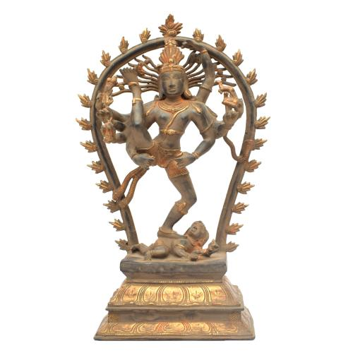BRASS NATRAJ DANCING ANTIQUE FINISH