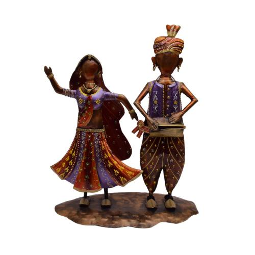 DECORATIVE HANDICRAFTS PAINTED RJASTHANI COUPLE MUSICIAN