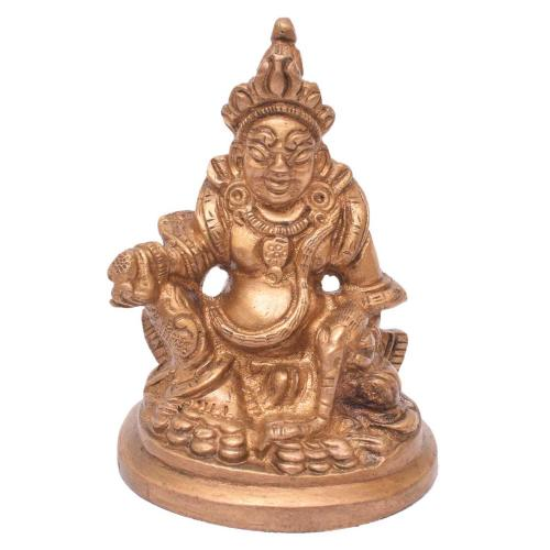 BRASS KUBERA LAKSHMI  SITTING WITH BASE