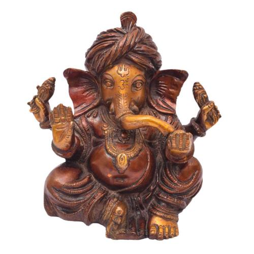 BRASS GANESHA SITTING