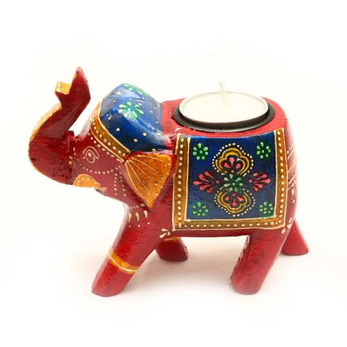 WOODEN ELEPHANT CANDLE