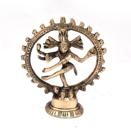 BRASS NATARAJA DANCING ON BASE