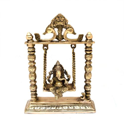 BRASS GANESHA SITTING ON JHULA