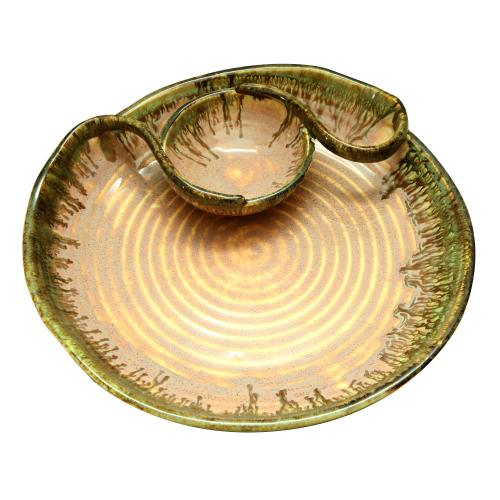 CERAMIC DIP AND CHIP PLATTER