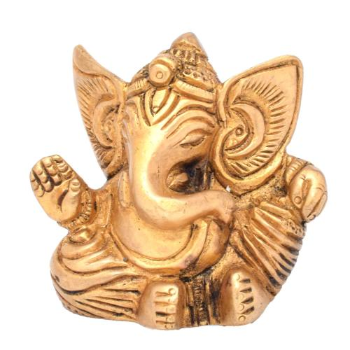 BRASS GANESHA SITTING WITHOUT BASE