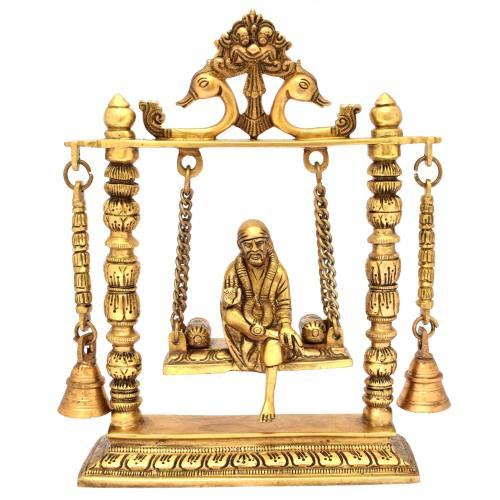 BRASS SAIBABA JHULA WITH BELL