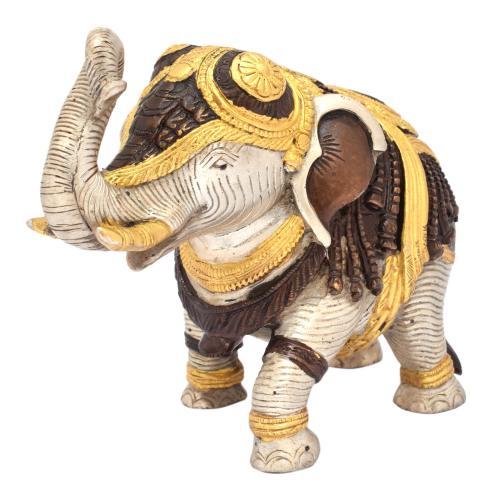 BRASS SCULPTURE ELEPHANT STANDING AQ