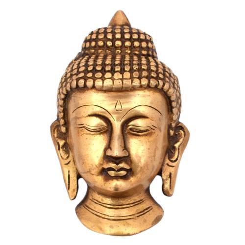 Buddha Face Wall Hanging Idol Figurine Handcrafted Showpiece