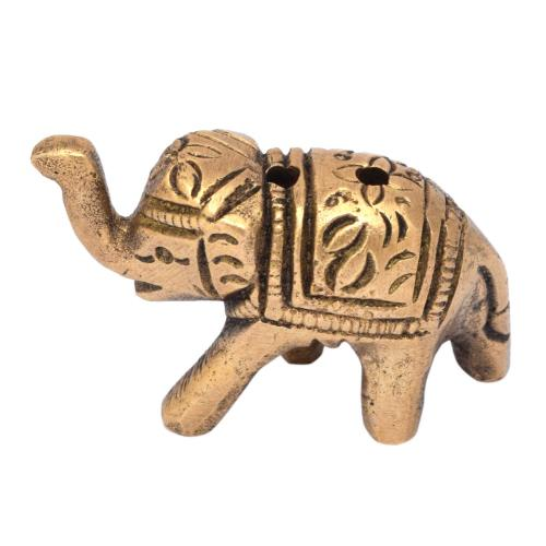 BRS SCULPTURE ELEPHANT INCENSE STICK HOLDER