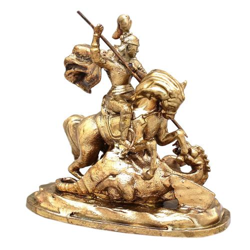 ST GEORGE SOLID BRONZE STATUE