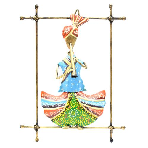 WROUGHT IRON SARDAR MUSICIAN WIRE FRAME