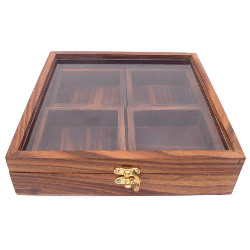 SHEESAM WOODEN SPICE BOX