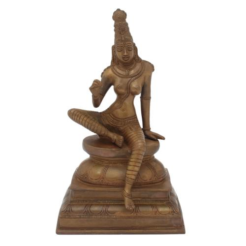BHOG SAKTHI BRASS IDOL ANTIQUE FINISH
