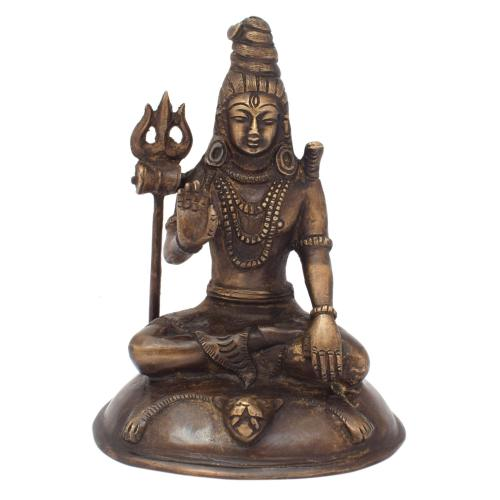 SHIVA BRASS IDOL ANTIQUE FINISH