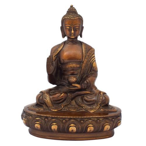 BUDDHA BRASS IDOL ANTIQUE FINISH