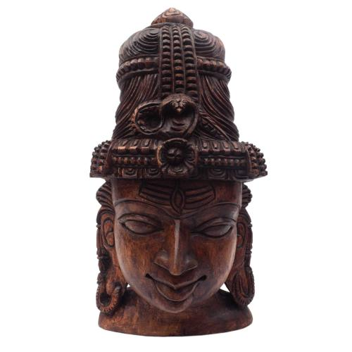 SHIVA FACE VAAGAI WOODEN SCULPTURES