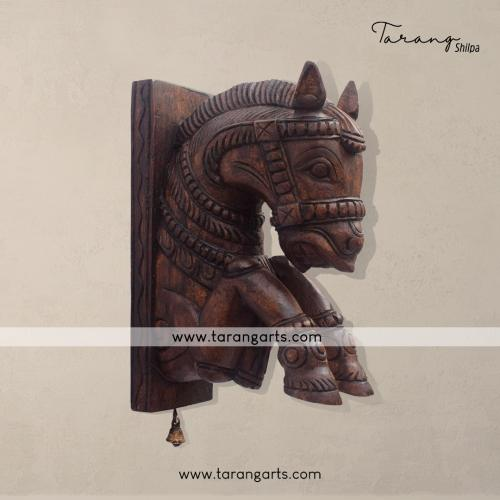 WOODEN HANICRAFTS HORSE WALL HANGING