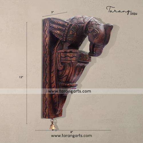 Nagas Work Kuthu Vilakku With Peacock Design