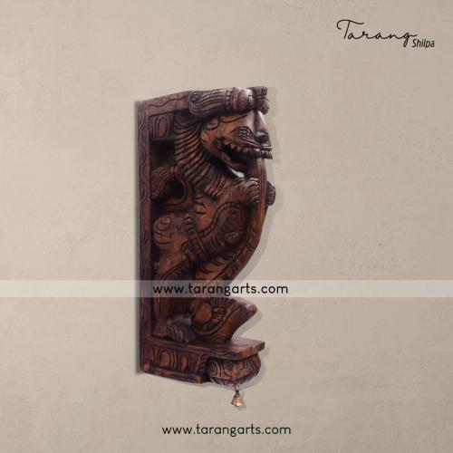 Yali Vaagai Wooden Scultpures Wall Hanging Home Decor Home Temple Tarang Wooden Handicrafts