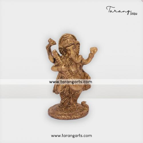 GANESHA STATUE BRASS IDOL BRASS SCULPTURES HOME DECOR TARANG HANDICRAFTS