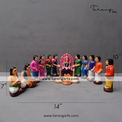 SEEMANTHAM SET OF 20 HANDMADE GOLU DOLL DUSSERA DOLL BOMMALU TARANG HANDICRAFTS