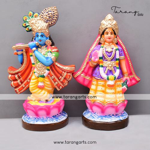 GOLU DOLL MATHURA RADHA KRISHNA SET OF 2 PCS