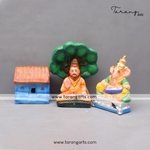 GOLU DOLL GANESHA BHARATH SET OF 4 PCS