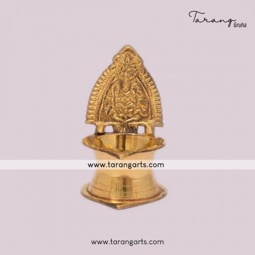 BRASS LAKSHMI KAMAKSHI DIYA FANCY BRASS DEEPAM  OIL LAMP FOR HOME TEMPLE PUJA DECOR