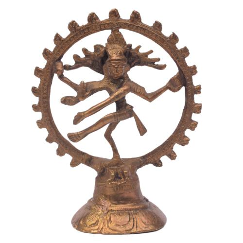 BRASS DANCING NATARJ IDOL WITH ANTIQUE FINISH