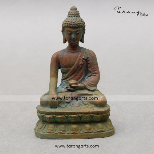 BUDDHA PANCHALOHA IDOL ANTIQUE FINISH