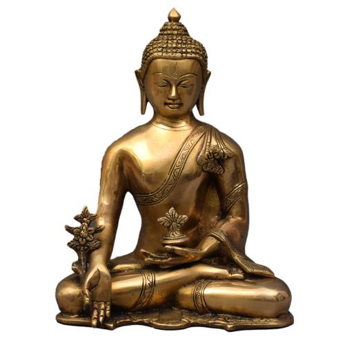 BRASS BUDDHA IDOL ANTIQUE FINISH