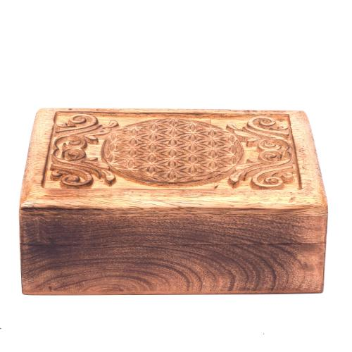 MANGO WOOD  JEWELLERY BOX ANTIQUE  DESIGN