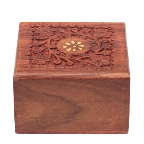 SHEESHAM WOOD CARVING JEWELLERY BOX