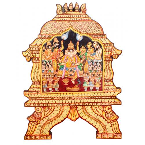 GANESHA TEMPLE  PAINTING