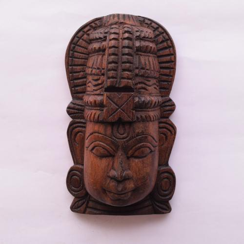 VAAGAI WOOD VISHNU MASK SCULPTURES