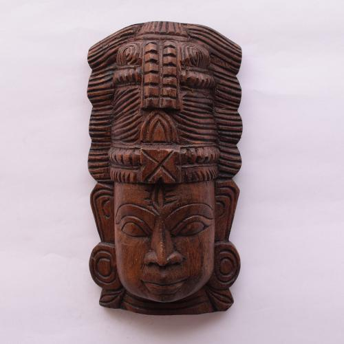 VAAGAI WOOD SHIVA MASK SCULPTURES