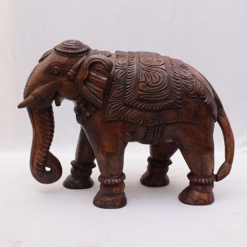 VAAGAI WOOD ELEPHANT SCULPTURES
