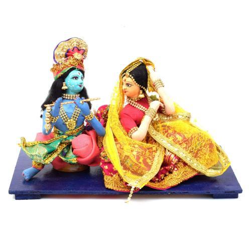 RADHA KRISHNA BENGALI TRADITIONAL HANDMADE GOLU DOLLS