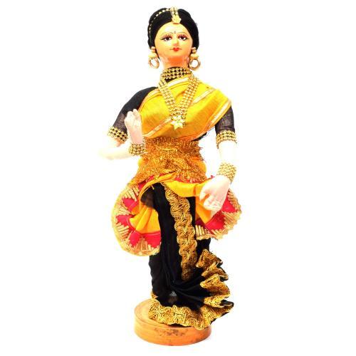 DANCING LADY BENGALI TRADITIONAL HANDMADE GOLU DOLLS