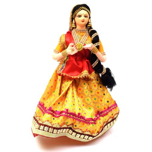 DANCING LADY BENGALI TRADITIONAL HANDMADE GOLU DOLLS