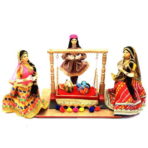 CHILD KRISHNA AND BALARAM BENGALI TRADITIONAL HANDMADE GOLU DOLLS