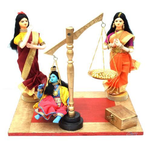 KRISHNA THULABARAM BENGALI TRADITIONAL HANDMADE GOLU DOLLS