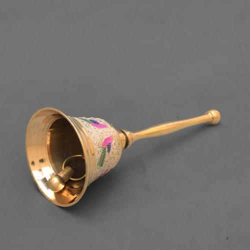 BRASS HAND BELL WITH HANDLE