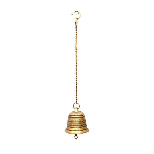 BRASS TEMPLE HANGING BELL